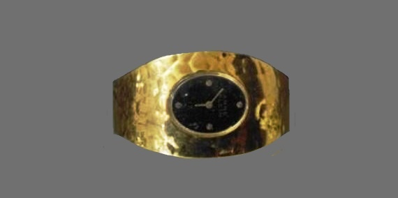 17 jewels wrist watches bracelet of gold tone