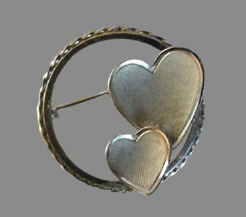 1950's Curtis Jewelers sterling silver Heart Brooch