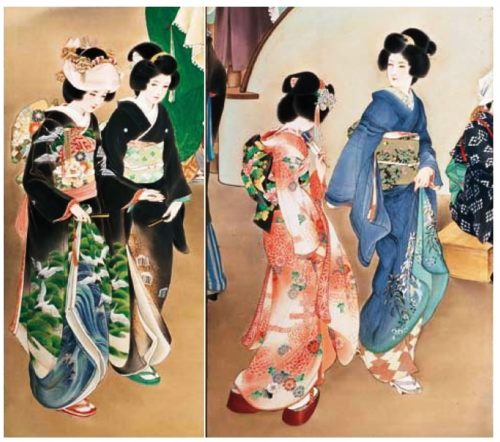 Aesthetic preferences of Japanese women evolved over the centuries