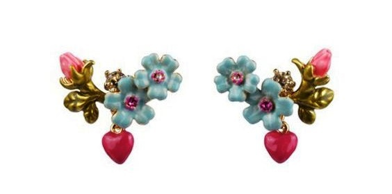 Forget-me-not flower earrings