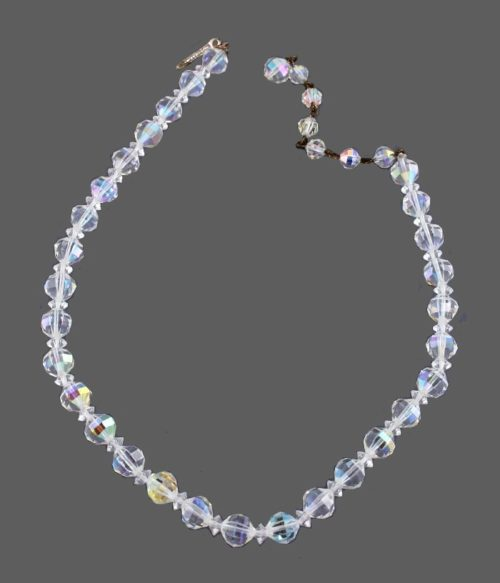 Glass beads, 40 cm, jewelry alloy. 1960s