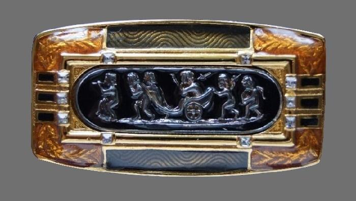 Habsburg palace vintage brooch. 5.4 cm