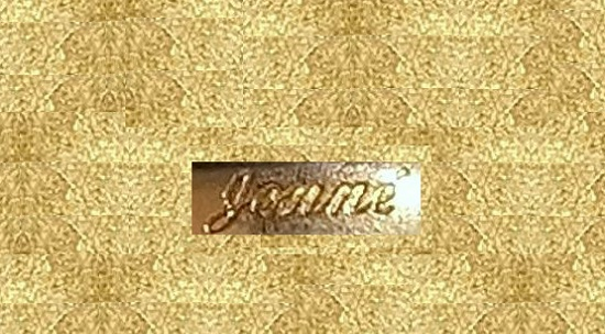 "decorations marked ""Jonne"" appeared in the early 50s"