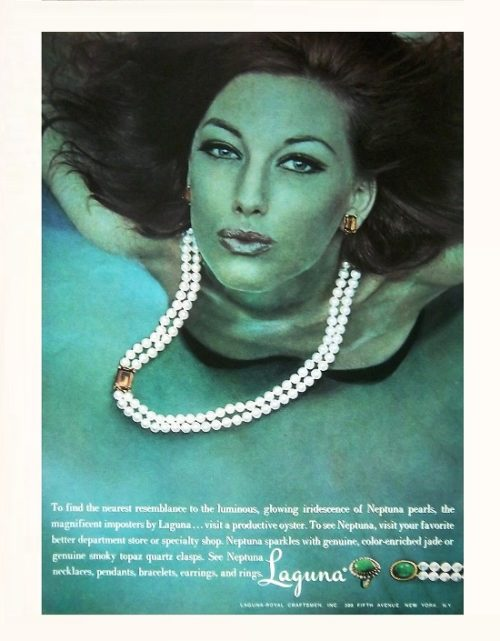 Published in Vogue, Laguna Jewelry ad, 1965