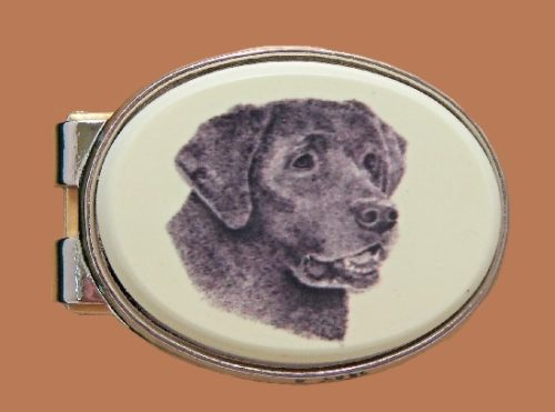 Black Labrador moneyclip