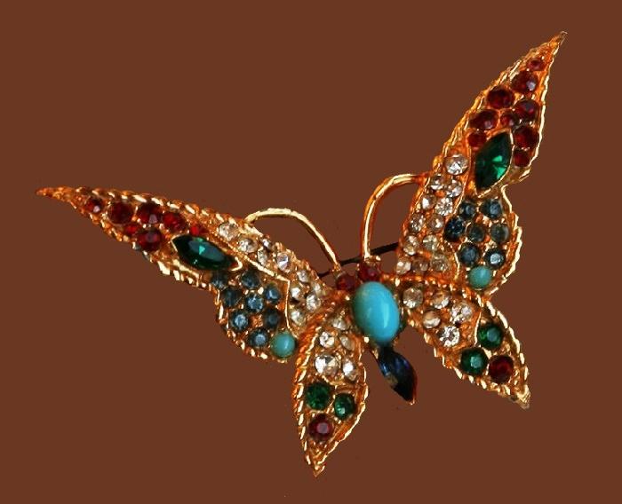 Boucher vintage butterfly brooch. 6 cm