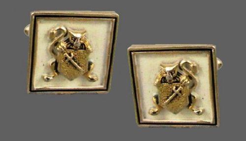 Coat of Arms vintage cufflinks