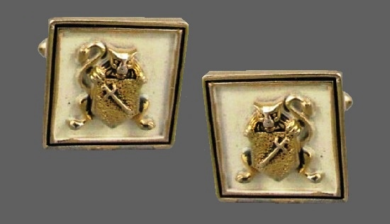Coat of Arms vintage cufflinks
