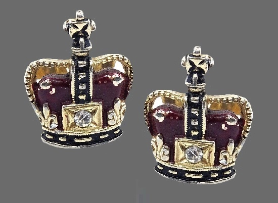 Crown midcentury cufflinks