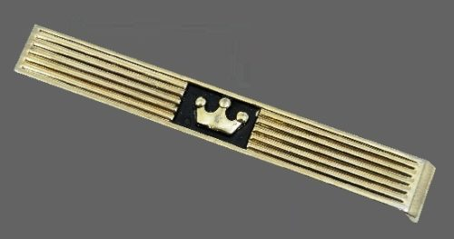 Crown tie clip of gold tone