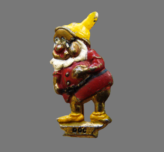 Doc gnome brooch pin
