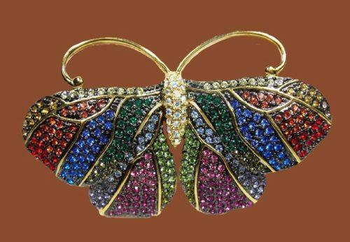 Joan Rivers vintage butterfly brooch. 7 cm