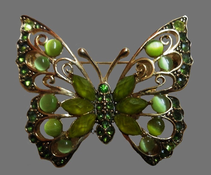 Liz Claiborne vintage butterfly brooch