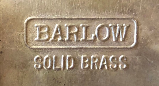 Marked Barlow solid brass