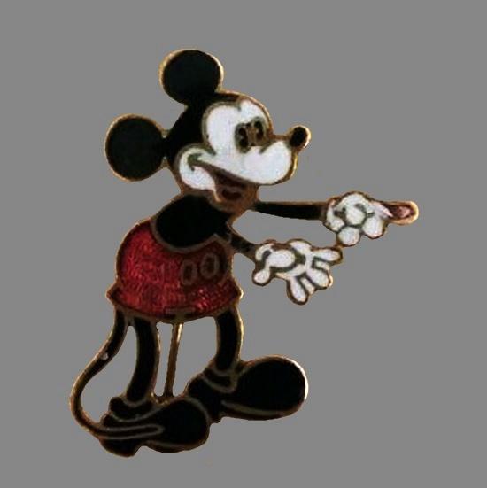 Mickey Mouse pin. Metal enamel