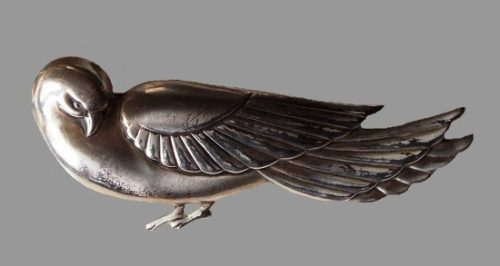 Dove brooch, copied from Georg Jensen design by Coro in 1940