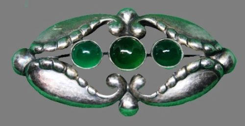 Traditional Scandinavian style Georg Jensen brooch
