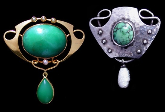 Murrle Bennett art nouveau jewelry
