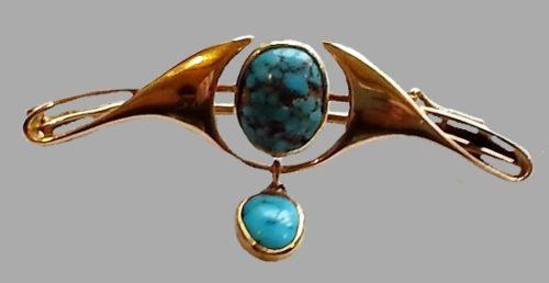Murrle Bennett art nouveau jewelry