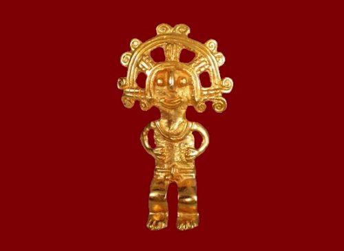 'Batabob of Mayan times' brooch. 1970s 6 cm