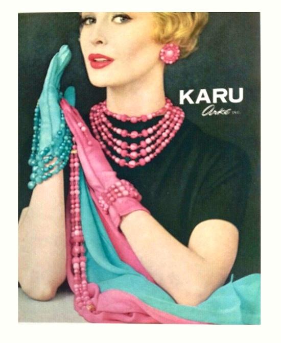 Beaded Karu Arke inc decorations. 1959 Ads