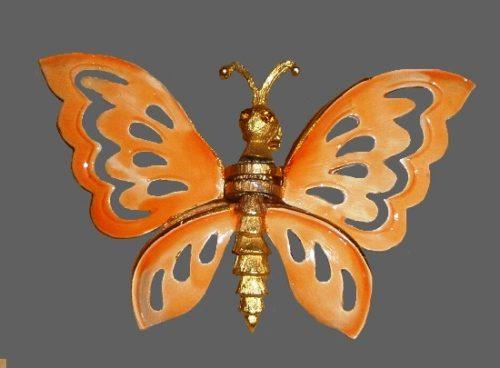 Butterfly enameled pin