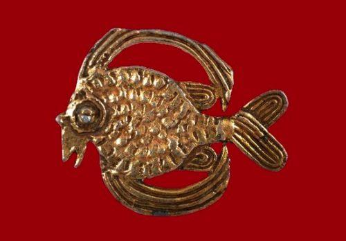 'Flying fish' vintage brooch. 1980s 6 cm