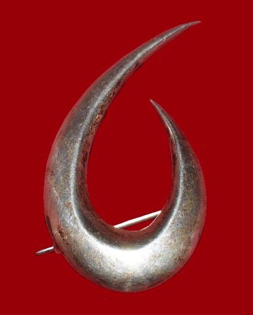 Modernist sterling silver pin