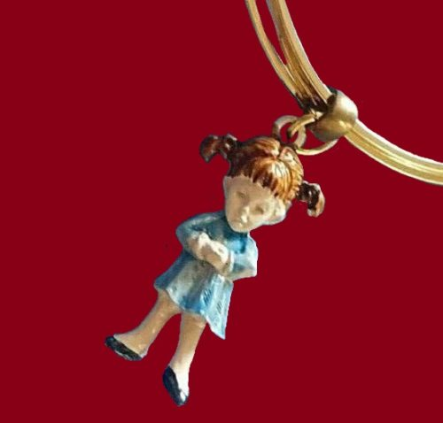 Moppets Characters bangle bracelet with charm, gold tone