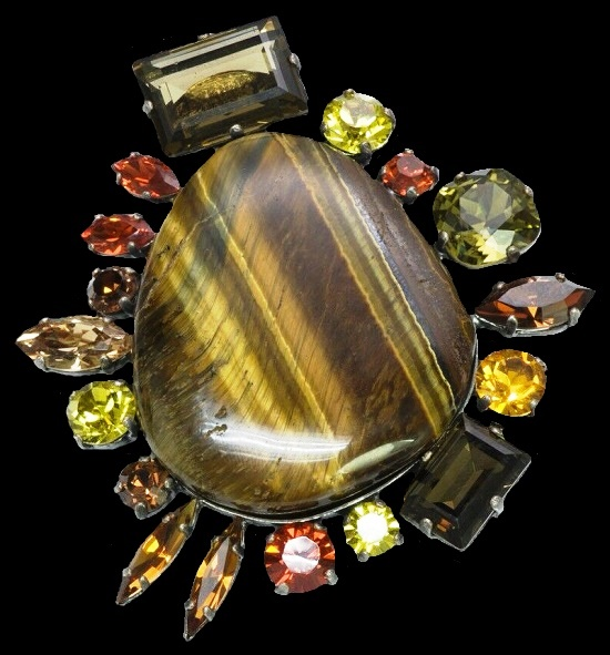 Tigers Eye Pendant Brooch