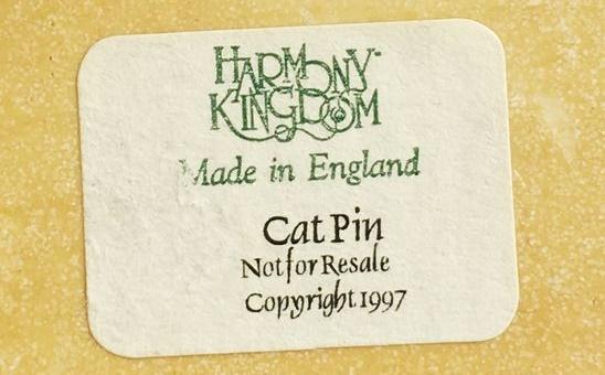 1997 cat pin with signature