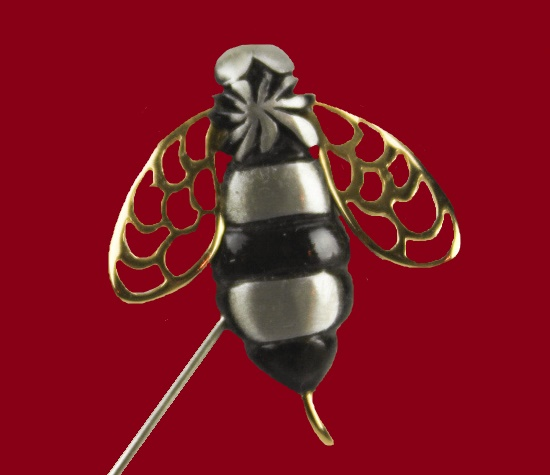 Bumblebee pewter lapel hat pin