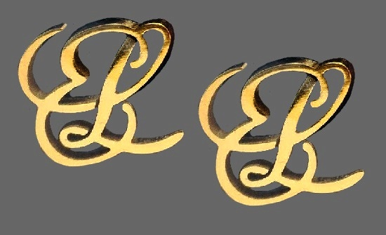 EL Initial Script Earrings