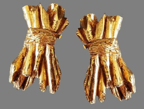 Golden Firewood Brushwood Gold Tone Clips
