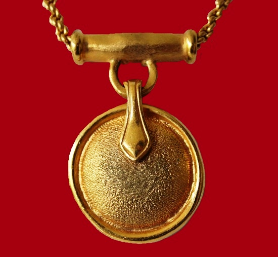 Matte gold vintage Ethnic style Locket pendant