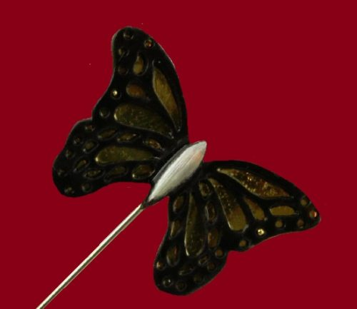 Monarch Butterfly pewter lapel hat pin