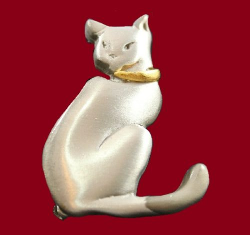Siamese Cat vintage brooch