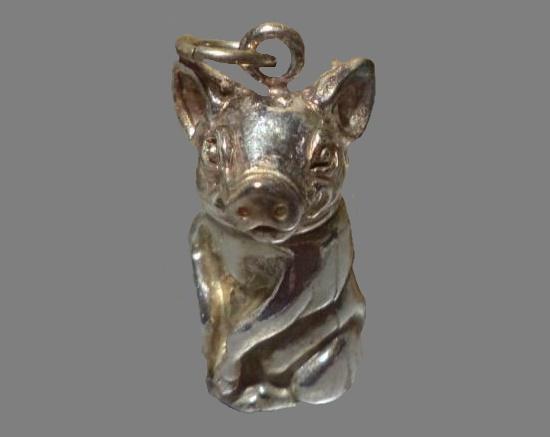 Sterling Silver Pig Pendant