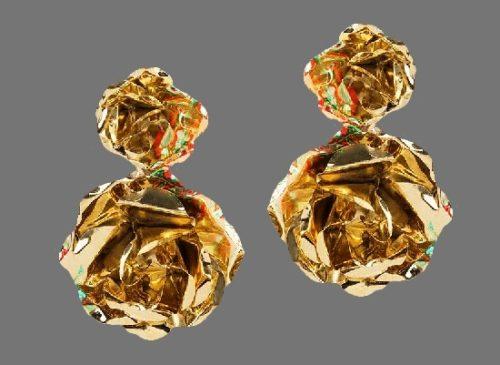 22 K gold earrings