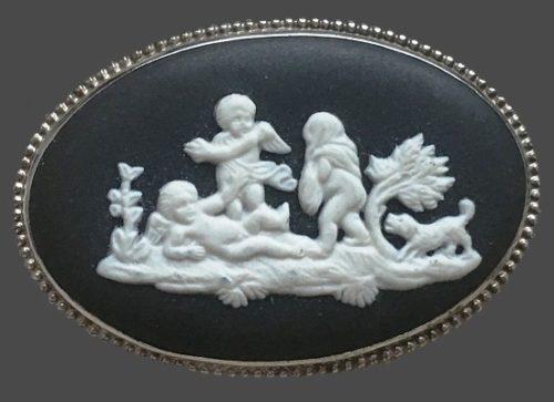 Angel Children brooch. 1974