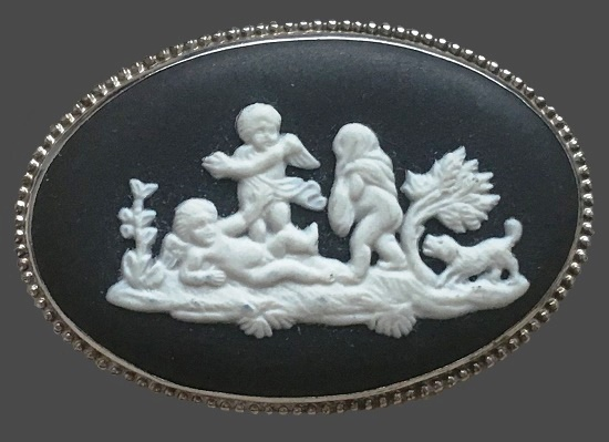 Angel Children brooch. 1974
