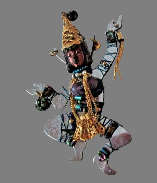 Apsara Pin Brooch