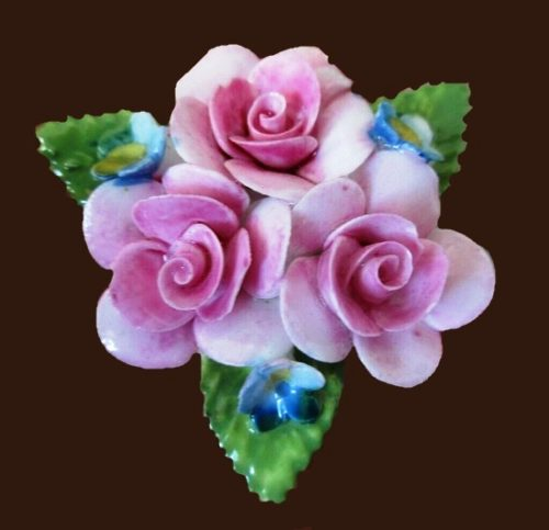Beautiful pink flower brooch