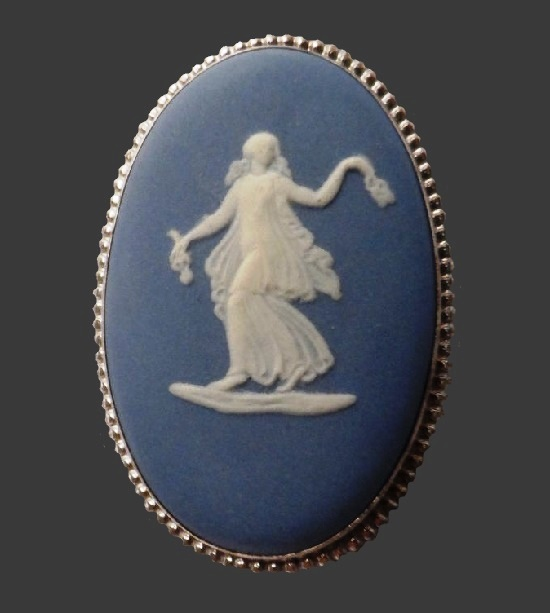 'Dance of the Hours' brooch. Silver, porcelain 1975