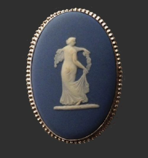 'Dance of the Hours'. 1977 blue brooch