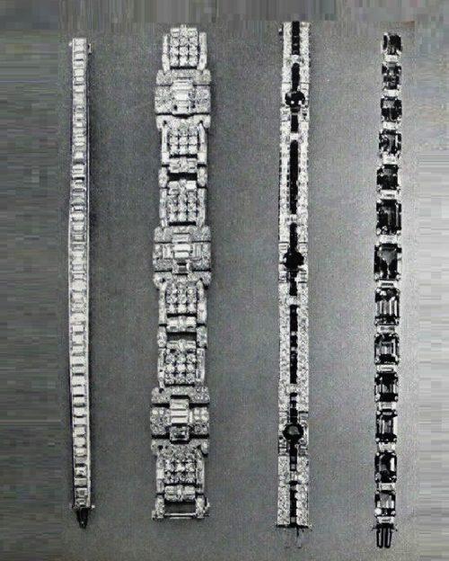 Diamond, diamond and sapphire, sapphire bracelets