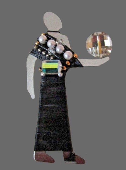 Egyptian Light Bearer Brooch