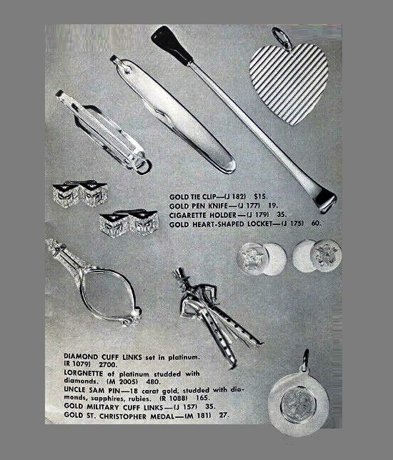 Jewelry items published in 1940s brochure