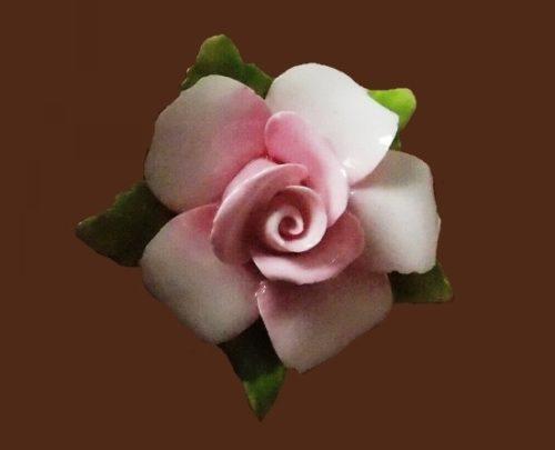 Light pink flower brooch. 1960s