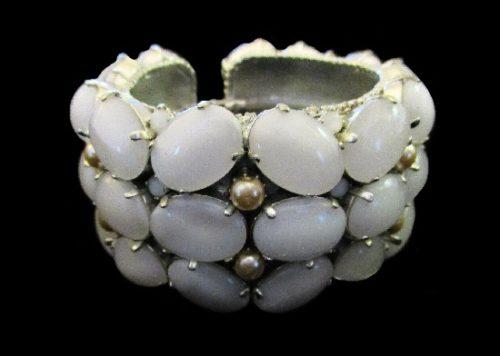 Moonstone and pearl bracelet